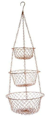 Image of Fox Run 5211 Hanging Wire Baskets, Copper