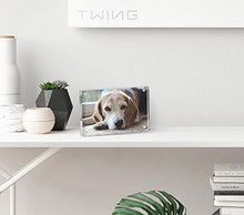 TWING Premium Acrylic Photo Frame - 4x6 inches Magnet Photo Frame -Double Sied Thick Desktop Frames (5 Pack)
