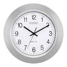 Load image into Gallery viewer, La Crosse Technology WT-3144S 14 Inch Atomic Analog clock - Silver