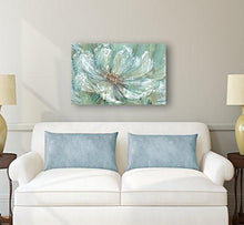 "Load image into Gallery viewer, Portfolio Canvas Decor TEAL SPLASH by Carson Large Canvas Wall Art, 24 x 36"" - zingydecor"