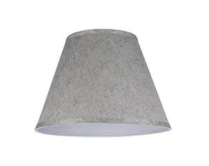 "Aspen Creative 32181 Transitional Hardback Empire Shape Spider Construction Lamp Shade in Grey, 13"" wide (7"" x 13"" x 9 1/2"") - zingydecor"