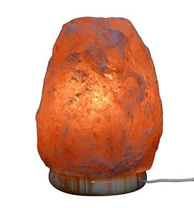 Hemingweigh Natural Crystal Himalayan Salt Lamp With Genuine Marble Base, Bulb And Power Cord, 6 to 7 lbs. - zingydecor