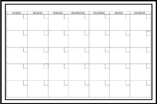 Wall Pops WPE0447 24-Inch by 36-Inch Peel and Stick Dry Erase Monthly Calendar Decal - zingydecor