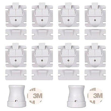 YOOFOSS Baby Safety Magnetic Cabinet Locks - No Tools Or Screws Needed - 8 Locks + 2 Key