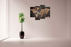 General World Map Black Background Wall Art Painting Pictures Print On Canvas Art The Picture For Home Modern Decoration - zingydecor
