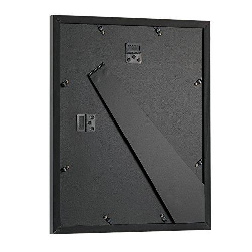 Upgraded Tempered Glass 11x14 Picture Frame With Mats For 8x10 Or