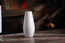 "Load image into Gallery viewer, Hosley Large 12"" Tall White Ceramic Vase - zingydecor"