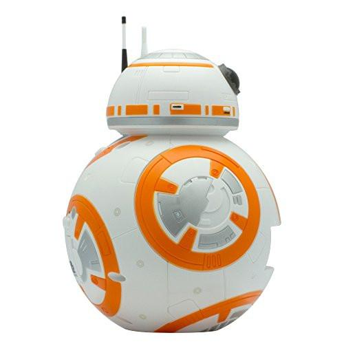 BulbBotz Star Wars BB-8 Kids Light Up Alarm Clock, white/orange plastic 7.5 inches tall LCD display, boy girl official