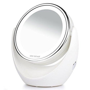 Double Sided Natural LED Lighted Makeup Mirror,1x/7x Magnifying,Anti fog  Design. - zingydecor