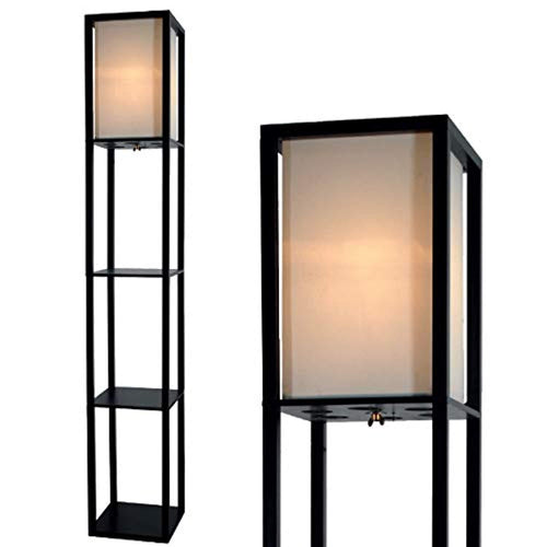 Light Accents Floor Lamp 3 Shelf Lamp Standing Floor Lamp with Shelves 63