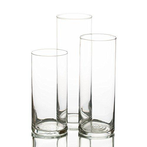 Eastland Glass Cylinder Vase Set of 3 - zingydecor