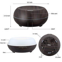 Load image into Gallery viewer, URPOWER Essential Oil Diffuser, 200ml Wood Grain Aromatherapy Diffuser Ultrasonic Cool Mist Aroma Humidifier with Adjustable Mist Mode, Waterless Auto Shut-Off, 7 Color LED Lights & 4 Timer Settings