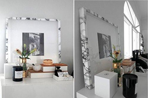 "Image of VViViD XPO White Grey Marble Gloss Vinyl Film Contact Paper 15.9"" x 6.5ft Roll (1 roll)"