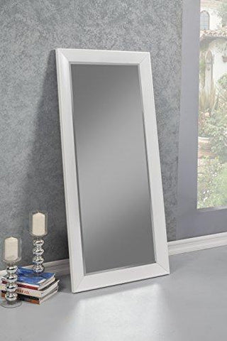 Sandberg Furniture 15411 Contemporary Full Length Leaner Mirror Frame, White
