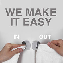 Load image into Gallery viewer, Kitchen Towel Hooks – Set of 2 Self Adhesive Towel Hook – Premium Chrome Finish & Easy Installation – Firmly Holds Towel without Tearing – Ideal as Bath, Bathroom, Shower or Outdoor Towel holders