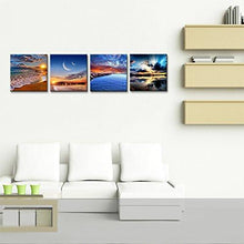 Load image into Gallery viewer, Phoenix Decor-Canvas Print,Giclee Artwork, Stretched and Framed, Paintings on Canvas Modern Lanscape Wall Art for Home and Office Decorations GF038 (12x12inchx4pcs) - zingydecor