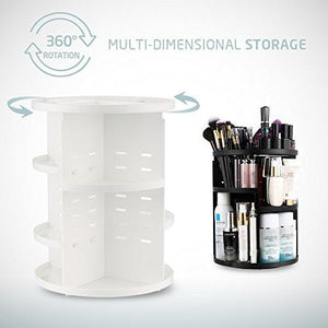 Jerrybox 360 Degree Rotation Adjustable Multi-Function Cosmetic Storage Box, Large