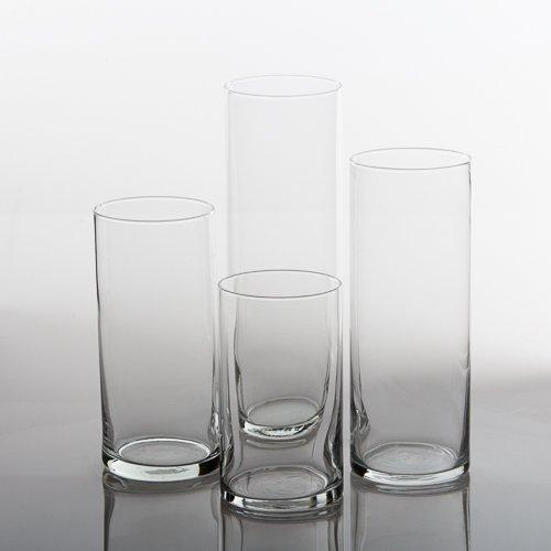 Eastland Glass Cylinder Vases Set of 4 - zingydecor