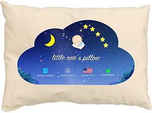 Little One's Pillow - Toddler Pillow, Delicate Organic Cotton, Hand-Crafted in USA (13 in x 18 in) - zingydecor