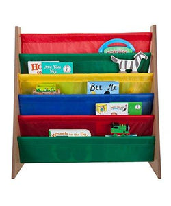 Saganizer 5 pockets book shelf and magazine rack Toddler-sized book rack for Kids and book organizer for adults - zingydecor