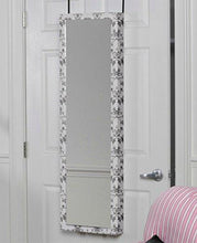 Load image into Gallery viewer, Mirrotek 3VU1448BWFL Triple View Professional Over The Door Dressing Mirror with 4 Mirrors, Toile - zingydecor
