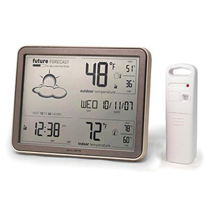 AcuRite 75077 Weather Forecaster with Jumbo Display, Remote Sensor and Atomic Clock - zingydecor