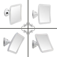 Load image into Gallery viewer, Mirrorvana Fogless Shower Mirror with Lock Suction-Cup, 6.3 x 6.3 Inch - zingydecor