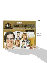Load image into Gallery viewer, Gentlemans Club Face Drink Coasters - 20 Hilarious Double Sided Drink Coasters (40 Fun Faces) - zingydecor