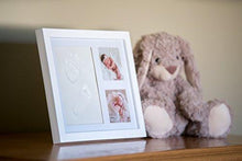 Load image into Gallery viewer, Baby Handprint Kit by Little Hippo - NO MOLD! Baby Picture Frame (WHITE) & Non Toxic CLAY! Unique... - zingydecor