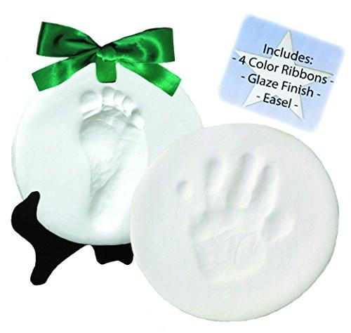 DELUXE Clay Hand Print & Footprint Keepsake Kit - Dries Stone Hard - No Bake - Air Drying - zingydecor