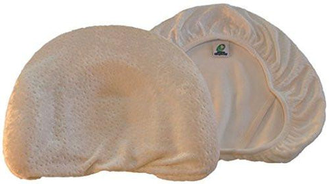Image of Baby Head Shaping Memory Foam Pillow & Bamboo Pillowcase. KEEP an Infant's head round....
