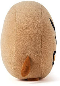 Character Plush Stuffed Animal Cute Face Toy Pillow Room Décor, 16.5 Inch, Brown