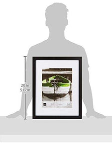 Kiera Grace Langford Wood Picture Frame, 10 by 10-Inch Matted for 5 by 5-Inch Photo, Black