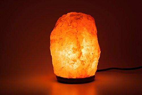 Himalayan Glow Hand Carved Natural Crystal Himalayan Salt Lamp With Genuine Wood Base, Bulb And On and Off Switch 6 to 8 Inch, 6 to 7 lbs. 2 PACK