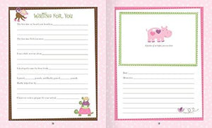 Baby Girl Memory Book Hardcover Record Babys First Five Years Diary Precious Moments Milestone... - zingydecor
