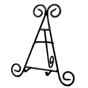 "Darice 12"" Tall Black Iron Display Stand Holds Cook Books, Plates, Pictures & More! (1) - zingydecor"