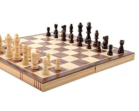 Kangaroo's Folding Wooden Chess Set With Magnet Closure