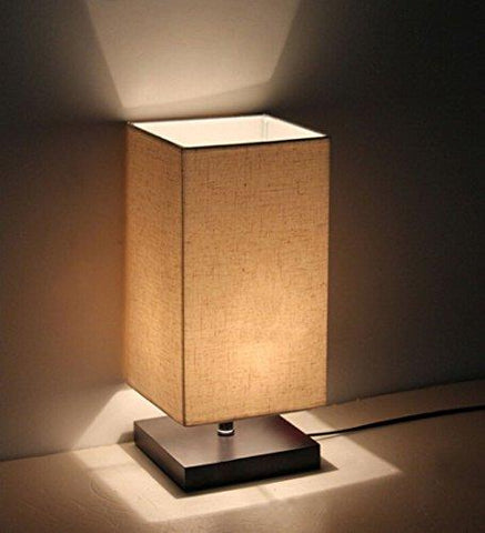 Image of Minimalist Solid Wood Table Lamp Bedside Desk Lamp