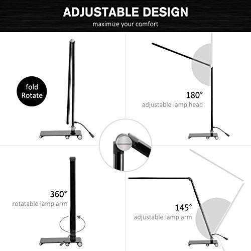 LED Dimmable Desk Lamp, OCOOPA Stylish Metal Table Lamp, Eye Protection Office Light,7 Brightness Levels, Memory Function,Touch Control,10W, 1000 Lumens,Piano Black
