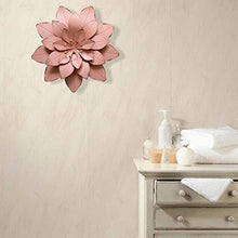 Load image into Gallery viewer, GIFTME 5 Dusty Light Pink Floral Metal Wall Art Decor(11.5x2 inch) - zingydecor
