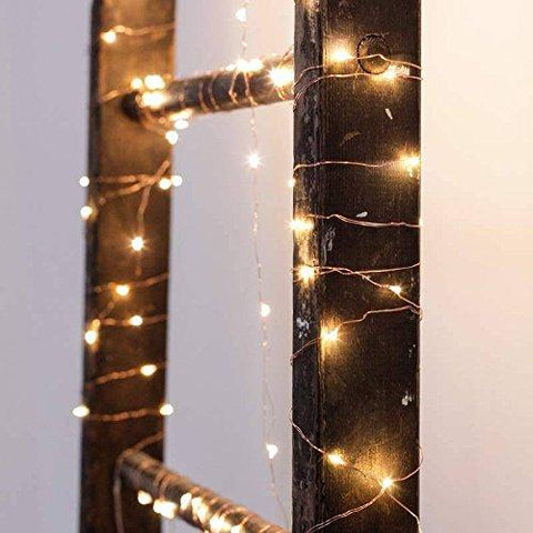 Image of [6-PACK] 7Feet Starry String Lights,Fairy String Lights 20 Micro Starry Leds On Silvery Copper Wire. 2pcs CR2032 Batteries Included, Works for Wedding Centerpiece,Party,Table Decorations(Warm White)