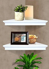 Load image into Gallery viewer, Shelving Solution Corner Wall Shelf (White) - zingydecor