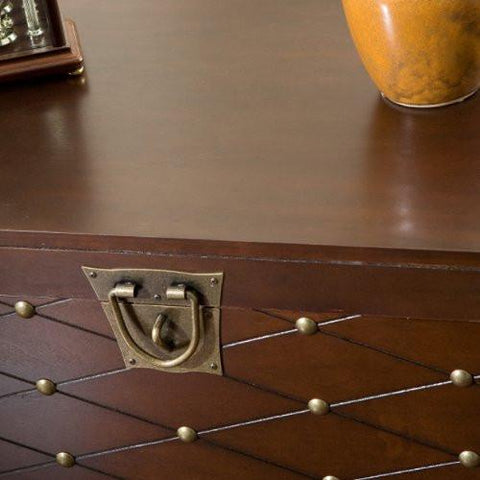 Image of Nailhead Cocktail Table Trunk - Espresso