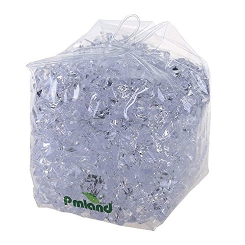 PMLAND Acrylic Ice Rock Cubes 3 Lbs Bag, Vase Filler or Table Decorating Idea- Clear - zingydecor