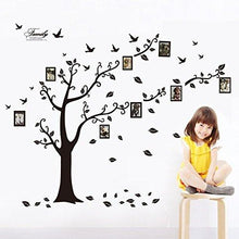 Load image into Gallery viewer, Large Family Tree Wall Decal. Peel & stick vinyl sheet, easy to install & apply history decor mural for home, bedroom stencil decoration. DIY Photo Gallery Frame Decor Sticker By LaceDecaL