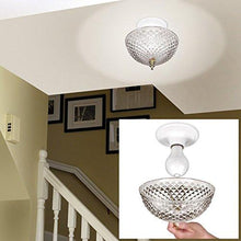 "Load image into Gallery viewer, Clip-on Light Shade - Diamond Cut Acrylic Dome Lightbulb Fixture - 7 3/4"" - zingydecor"
