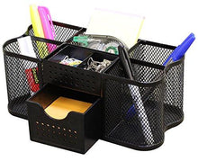 Load image into Gallery viewer, DecoBros Desk Supplies Organizer Caddy, Black - zingydecor