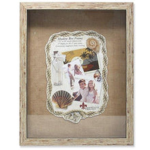 Load image into Gallery viewer, Lawrence Frames Weathered Front Hinged Shadow Box Frame with Burlap Display Board, 11 by 14-Inch, Natural
