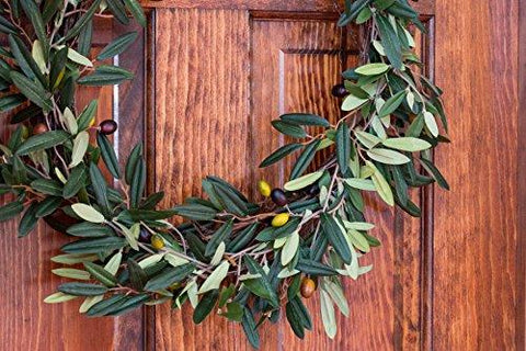 Image of Nearly Natural 4773 Olive Wreath, 20-Inch, Green