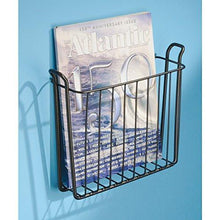 Load image into Gallery viewer, InterDesign Classico Wall Mount Newspaper and Magazine Rack for Bathroom - Bronze